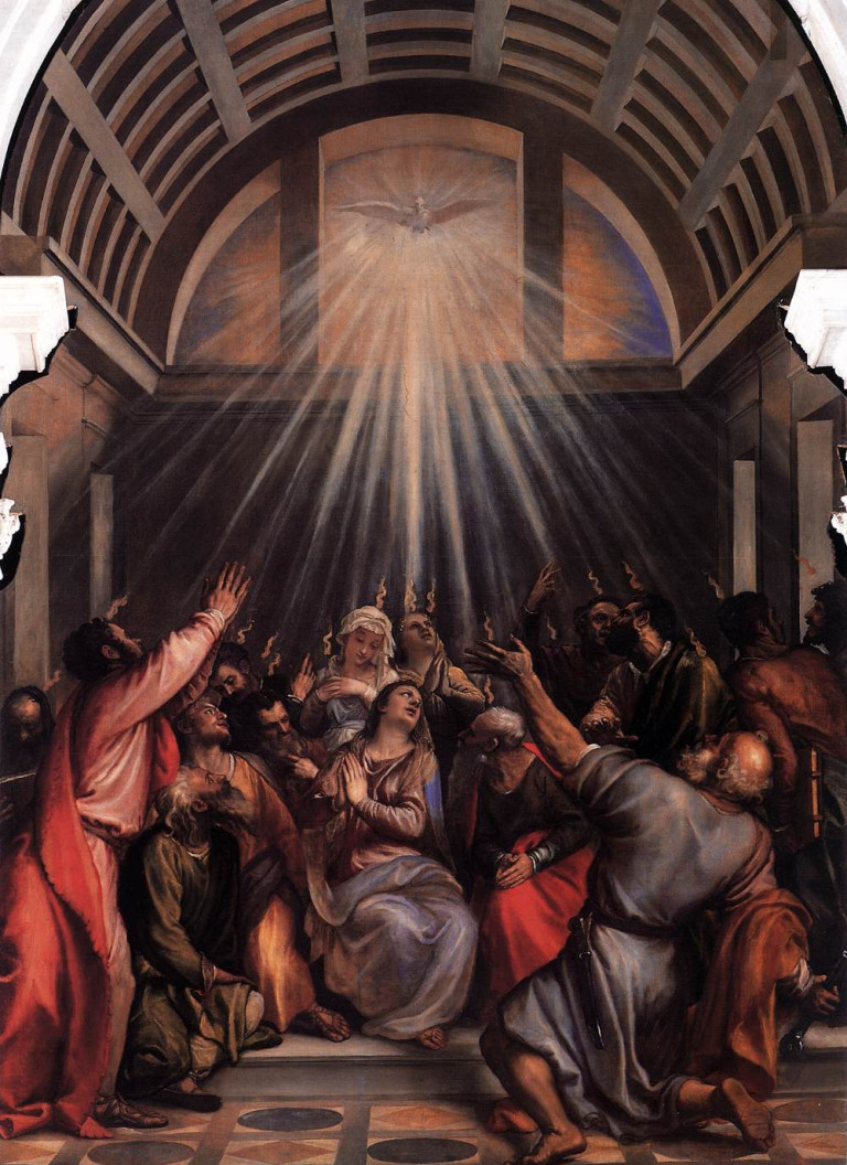 Titian_-_The_Descent_of_the_Holy_Ghost_-_WGA22768